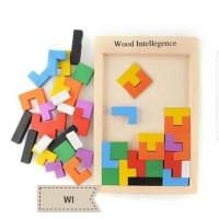 Jual Mainan Edukasi Anak puzzle Tetris / Mainan Balok Kayu Murah