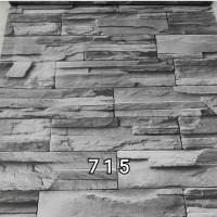 715 WALLPAPER STICKER DINDING MURAH, BATU ALAM ABU-ABU