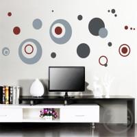 Polcadot Grey AY7119 - Stiker Dinding / Wall Sticker (50x70)