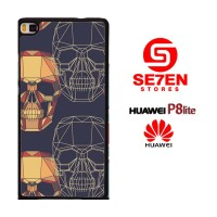 Casing HP HUAWEI P8 LITE geometrical wallpaper Custom Hardcase Cover