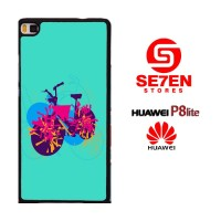 Casing HP HUAWEI P8 LITE bike grafity Custom Hardcase Cover