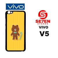 Casing HP VIVO V5 brown 5 Custom Hardcase Cover