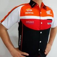 Jual Baju Seragam Otomotif Honda, Baju Komunitas Moto GP, Kemeja Bordir F1 Murah