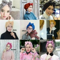 Jual Bow Turban / hijab / jilbab / turban instan / penutup kepala Murah