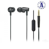 Audio Technica ATH-CLR 100is Headset Earphone With Mic - Black