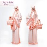 PMM - Mukena Dewasa Spandek Brukat Salem Telekung Jersey Model Terbaru