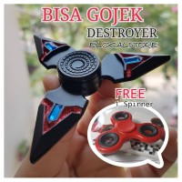 Jual Fidget Spinner New Design Triple Cool Zinc Alloy Crystal Fidget Toys Murah