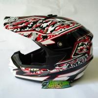 Helm Helmet Cross Trail Cargloss MX1 Army