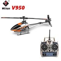 Jual WLTOYS V950 BRUSHLESS 6CH 3D 3-AXIS GYRO 2,4GHZ RC HELICOPTER RTF Murah