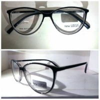 kacamata frame korea pria wanita lentur free lensa