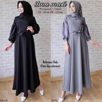 Baju Gamis Terbaru 2017 Ilma Maxi Dress Modern Baju Muslim Wanita
