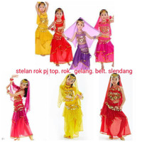 Jual belly dance stelan rok anak kostum tari dance india halloween aladin Murah