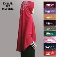 Hijab/Jilbab Khimar Pet Mahkota Payet