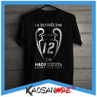 Kaos Real Madrid La Liga Bola Champions Juara Champion 12 Madridista