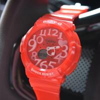Baby G Sherina Casio KW super Elegan Pink Merah putih (Grosir G-shock