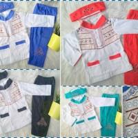 1-3 tahun/  Muslim Anak / Baju Koko Untuk Anak Bayi Bordir
