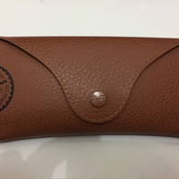 case leather rayban ray ban original coklat new