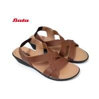 BATA Ladies Sepatu Sandal Wanita Elastis Low Wedges