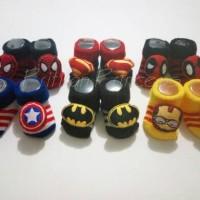 Jual 3D Baby Socks - Kaos Kaki 3D Bayi Superhero - Boy Murah