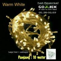 Jual Tumblr led WARM WHITE lampu hias natal plus sambungan MURAH 10m+ Murah