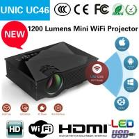 Jual Mini Projector UNIC UC 46 WIFI 1200 lumens / proyektor UC 46 Murah