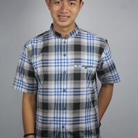 Baju Koko Muslim Pria Warna Biru Premium Kualitas Terbaik/ Unik