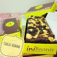 Jual BEST SELLER BROWNIES PANGGANG INIBRONIS  COKLAT ALMOND Murah
