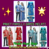 PAKET FAMILY GAMIS Hijab MUSLIMAH Batik MELATI