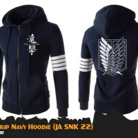 Jaket Sweater Hoodie Anime Attack On Titan 4 Strip
