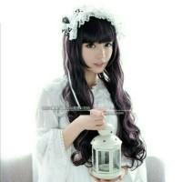 Wig Lolita Long Black Highlight A40 RsW Import Taobao Cosplay