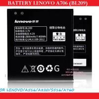 LENOVO A706 BL209 A516 A820 S516 A760 2000MAH BATRE BATERAI 900736