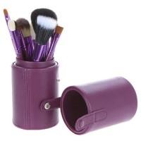 Kuas MakeUp Set 12 pcs 12pcs Cosmetic Make Up Brush with Round Case
