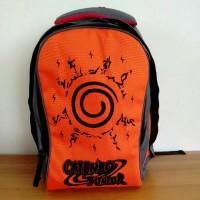 Tas Ransel Anak Sekolah SD Laki / Backpack Cowok Orange Naruto