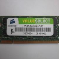 Jual ram laptop sodim ddr2 2gb pc5300 667 corsair memory memori Murah