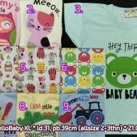 harga Kaos Oblong Pendek Hello Baby Xl Tokopedia.com