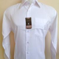 Jual Kemeja Putih Polos Lengan Panjang Semi Slim Fit Murah