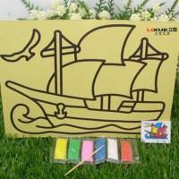 Jual Lukisan Pasir Warna Alat Gambar Anak Painting Set Mainan Edukasi Moody Murah