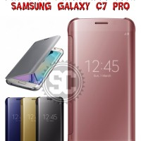 Flip Case Miror S View Auto Lock Samsung Galaxy C7 Pro