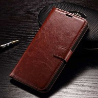 Leather FLIP COVER WALLET Lenovo A6000 A6010 Plus Case Casing Dompet