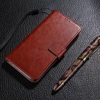 Leather FLIP COVER WALLET Vivo Y35 V3 V5 Y67 Case Bumper Casing Kulit