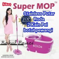 Jual ALAT PEL LANTAI SUPER MOP Deluxe Roda Bolde Original Magic Wonder Mop Murah