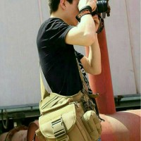 Jual tas slempang selempang pria tactical army slingbag impor import Murah