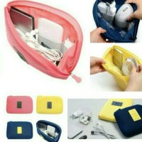 Jual cable pouch organizer / dompet hp , charger ,powerbank ( size L ) Murah