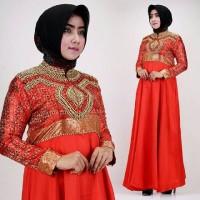 Baju Lebaran Dress Dian Pelangi Merah cabe