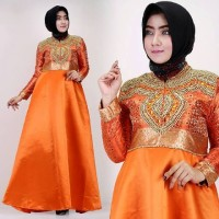 Baju Lebaran dress Dian Pelangi Orange