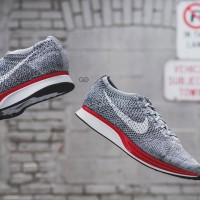 Sneakers NEW BRANDED SEPATU NIKE FLYKNITE RACER OREO ORGINAL PREMIUM