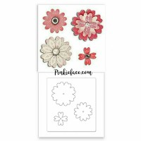 * Flower Layers W/Heart Petals - Sizzix Bigz Dies Big Shot cetakan