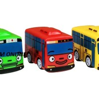 MAINAN MOBIL TAYO THE LITTLE BUS PULL BACK BUS TAYO PULL BACK SET
