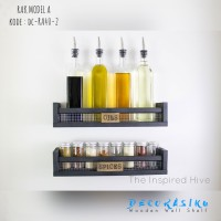 Promo Rak Dinding Model A / Rak Buku / Floating Shelves 2pcs Size 40cm