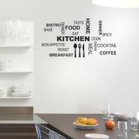 Wall Stiker Kitchen Dapur Cafe Ruang Makan Cafe Toko Dinding Kaca